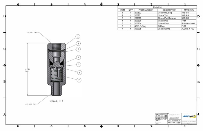 Jm Check Valve Assembly Group V Page on Intermittent Gas Lift
