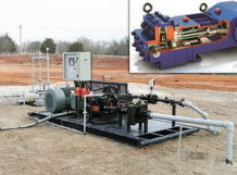 Fig. 9. Ultra-Flo system with a T-Series diaphragm pump (inset).